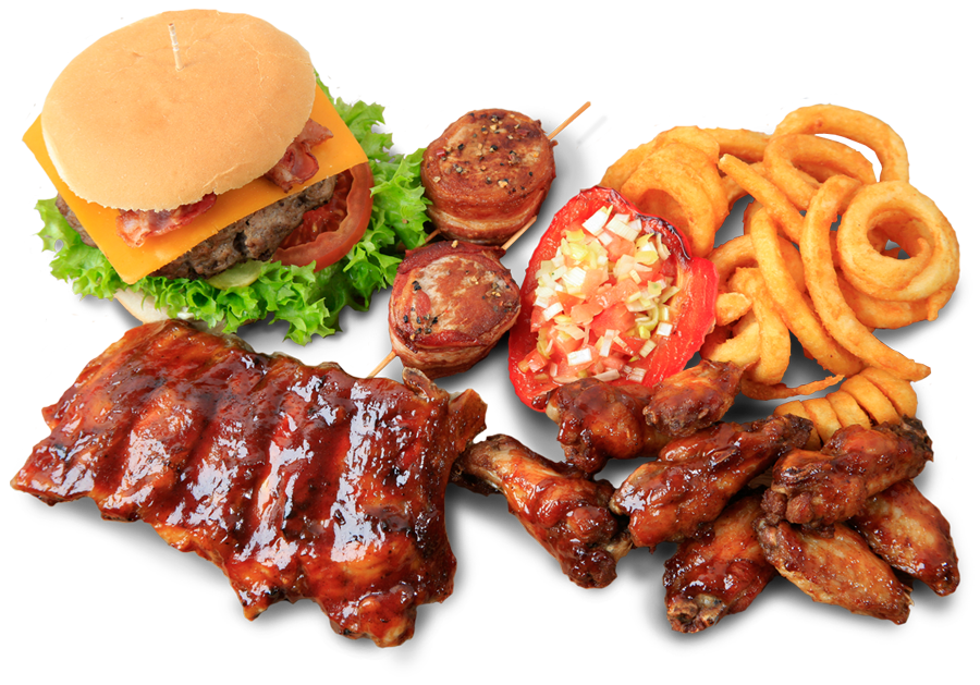Ribs, Wings, Burger, Pommes Twister, Steaks